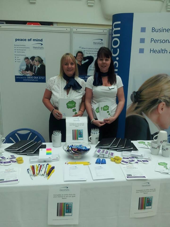 Henshalls Insurance ladies at the trade show
